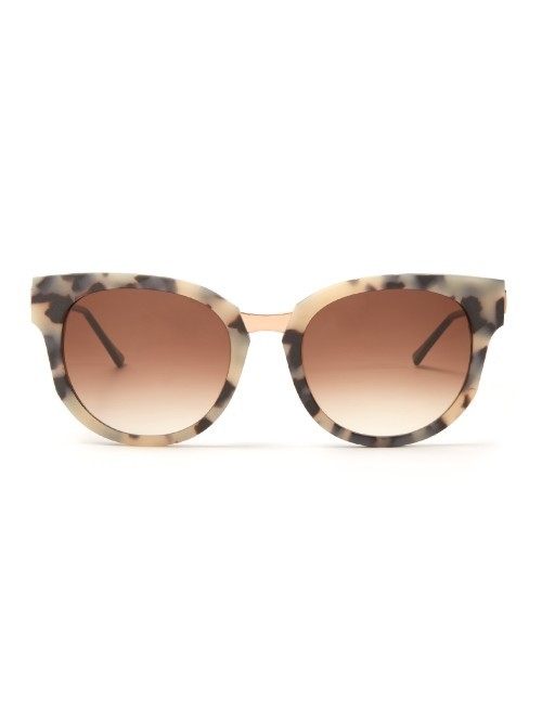 Affinity Cat Eye Frame Sunglasses - predominant colour: nude; secondary colour: charcoal; occasions: casual, holiday; style: cateye; size: standard; material: plastic/rubber; pattern: animal print; finish: plain; season: a/w 2015