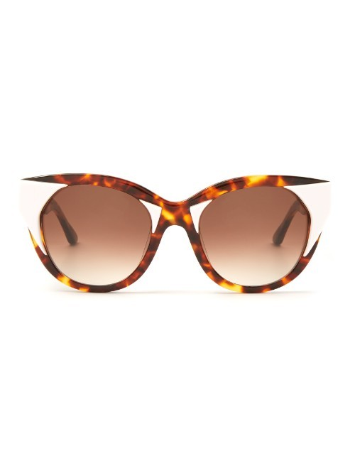 Aristocracy Cat Eye Frame Sunglasses - predominant colour: chocolate brown; occasions: casual; style: cateye; size: large; material: plastic/rubber; pattern: animal print; finish: plain; season: a/w 2015; wardrobe: highlight