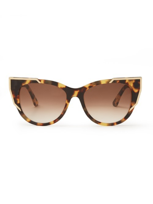 Butterscotchy Cat Eye Frame Sunglasses - predominant colour: chocolate brown; secondary colour: camel; occasions: casual, holiday; style: cateye; size: standard; material: plastic/rubber; pattern: tortoiseshell; finish: plain; season: a/w 2015; wardrobe: basic