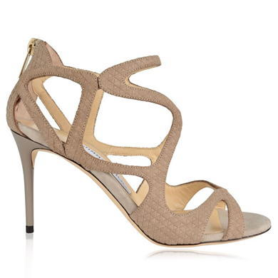 Leslie Strappy Heels - predominant colour: stone; occasions: evening, occasion; material: suede; heel height: high; heel: stiletto; toe: open toe/peeptoe; style: standard; finish: plain; pattern: plain; season: a/w 2015; wardrobe: event