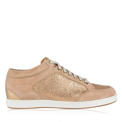 Miami Low Top Trainers - predominant colour: nude; occasions: casual; material: leather; heel height: flat; toe: round toe; style: trainers; finish: metallic; pattern: plain; season: a/w 2015; wardrobe: basic
