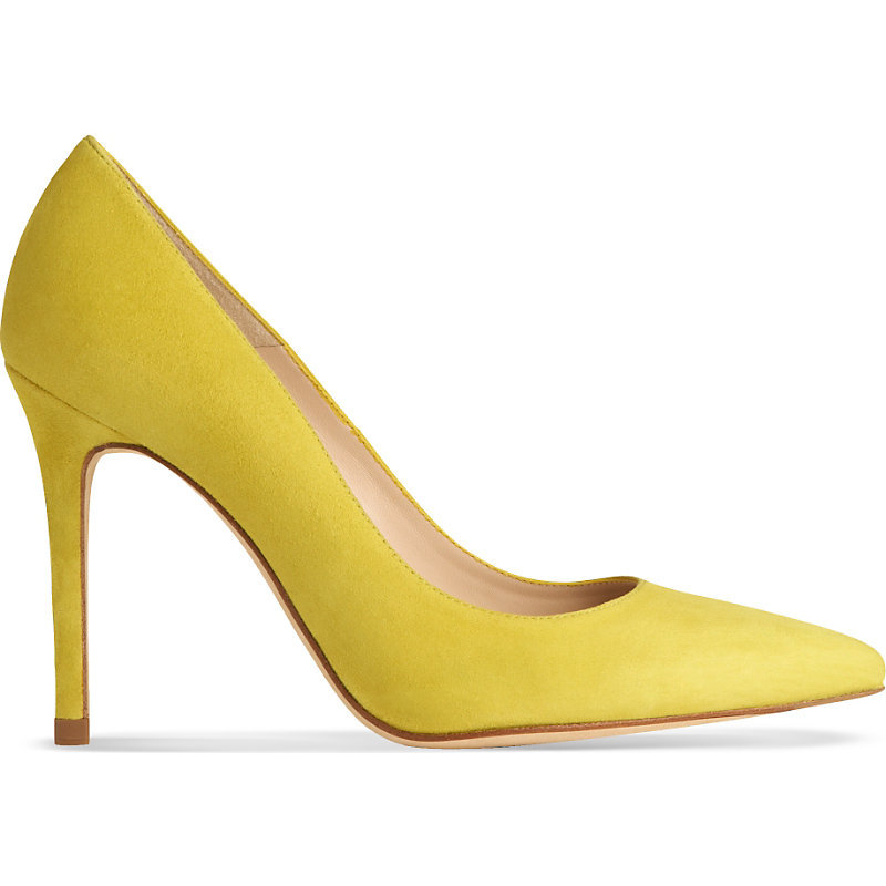Fern Suede Courts, Women's, Eur 39 / 6 Uk Women, Gre Lime - predominant colour: yellow; occasions: evening, occasion; material: leather; heel: stiletto; toe: pointed toe; style: courts; finish: plain; pattern: plain; heel height: very high; season: a/w 2015