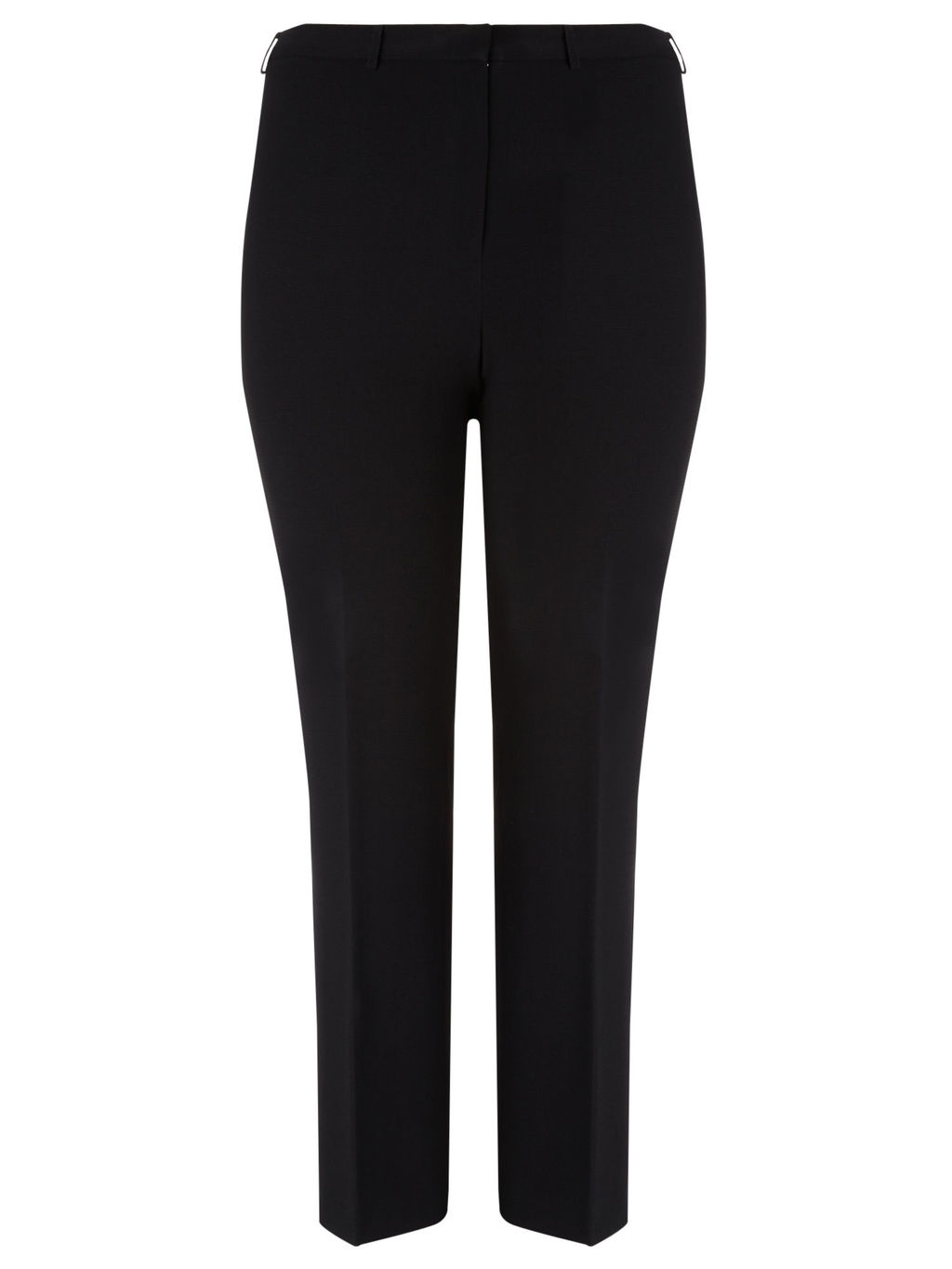 Tailored Trousers, Black - length: standard; pattern: plain; waist: mid/regular rise; predominant colour: black; occasions: casual, creative work; fibres: polyester/polyamide - 100%; fit: slim leg; pattern type: fabric; texture group: woven light midweight; style: standard; season: a/w 2015; wardrobe: basic