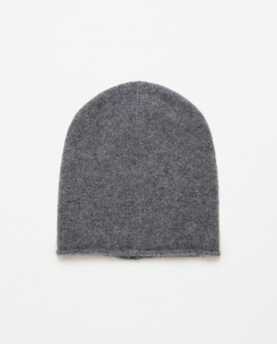 100% Cashmere Hat - predominant colour: charcoal; occasions: casual; type of pattern: light; style: beanie; size: standard; pattern: plain; material: cashmere; season: a/w 2015; wardrobe: investment
