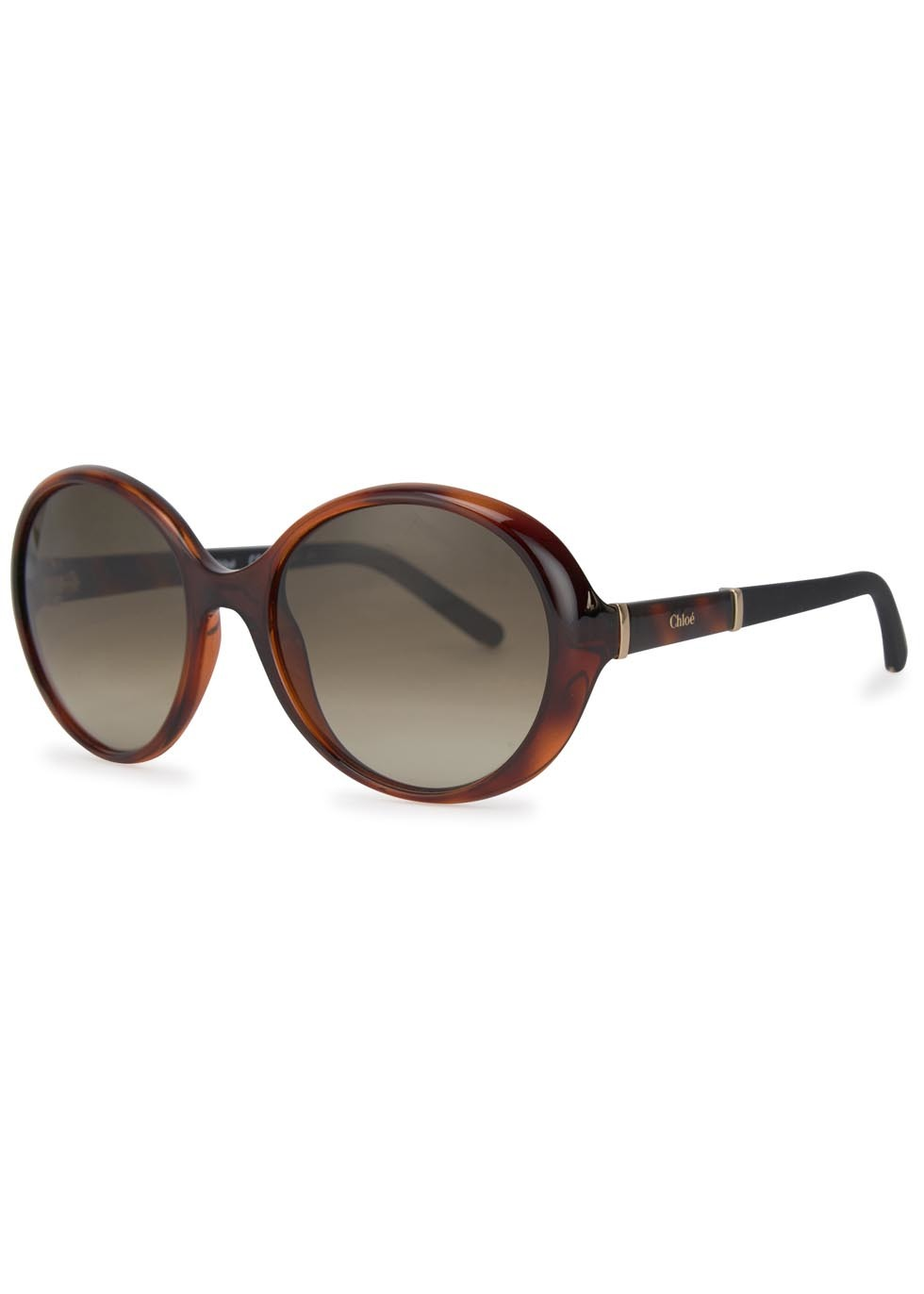 Daisy Tortoiseshell Round Frame Sunglasses - predominant colour: chocolate brown; occasions: casual, holiday; style: round; size: large; material: plastic/rubber; pattern: tortoiseshell; finish: plain; season: a/w 2015; wardrobe: basic