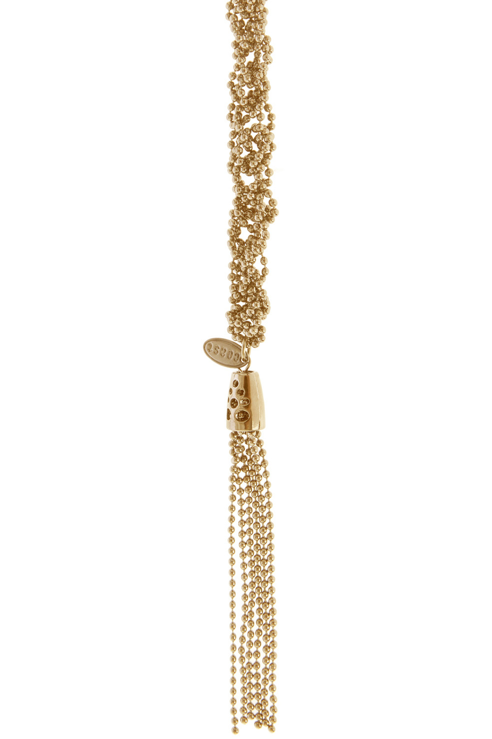 Long Sparkle Chain Necklace - predominant colour: gold; occasions: evening; style: pendant; length: long; size: standard; material: chain/metal; finish: metallic; embellishment: chain/metal; season: a/w 2015; wardrobe: event