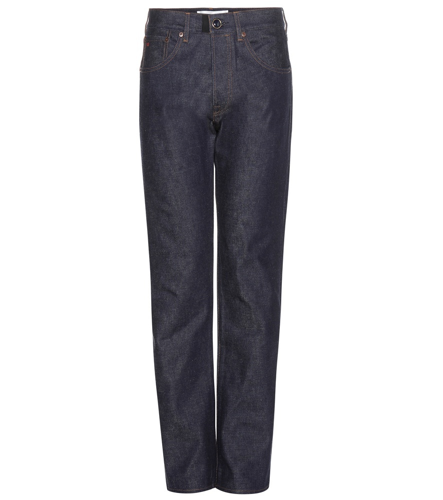 Straight Leg Jeans - style: straight leg; length: standard; pattern: plain; waist: high rise; pocket detail: traditional 5 pocket; predominant colour: black; occasions: casual; fibres: cotton - stretch; jeans detail: dark wash; texture group: denim; pattern type: fabric; season: a/w 2015; wardrobe: basic