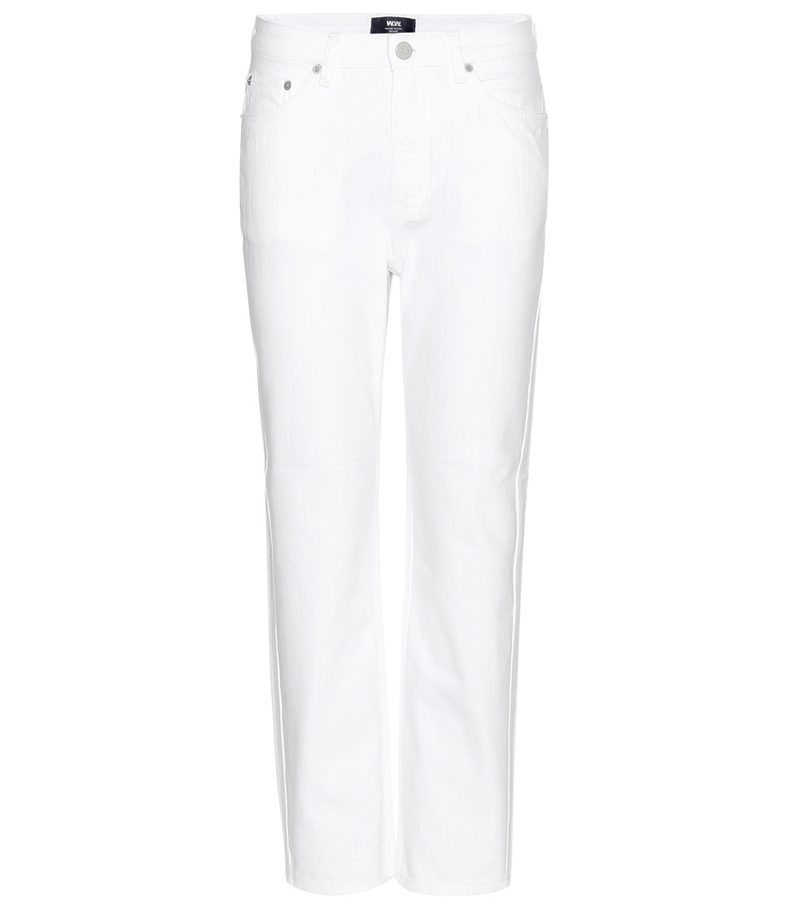 Eve Cropped Jeans - style: skinny leg; length: standard; pattern: plain; pocket detail: traditional 5 pocket; waist: mid/regular rise; predominant colour: white; occasions: casual, creative work; fibres: cotton - mix; texture group: denim; pattern type: fabric; season: a/w 2015; wardrobe: highlight