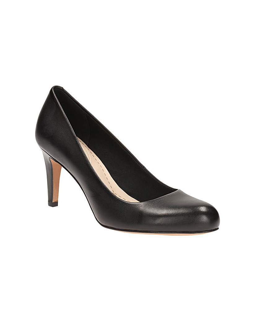 Carlita Cove Shoes - predominant colour: black; occasions: work; material: faux leather; heel height: high; heel: stiletto; toe: round toe; style: courts; finish: plain; pattern: plain; season: a/w 2015; wardrobe: investment