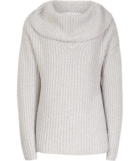 Langley Chunky Roll Neck Jumper - pattern: plain; neckline: roll neck; style: standard; predominant colour: light grey; occasions: casual; length: standard; fibres: wool - mix; fit: loose; sleeve length: long sleeve; sleeve style: standard; texture group: knits/crochet; pattern type: fabric; season: a/w 2015; wardrobe: basic
