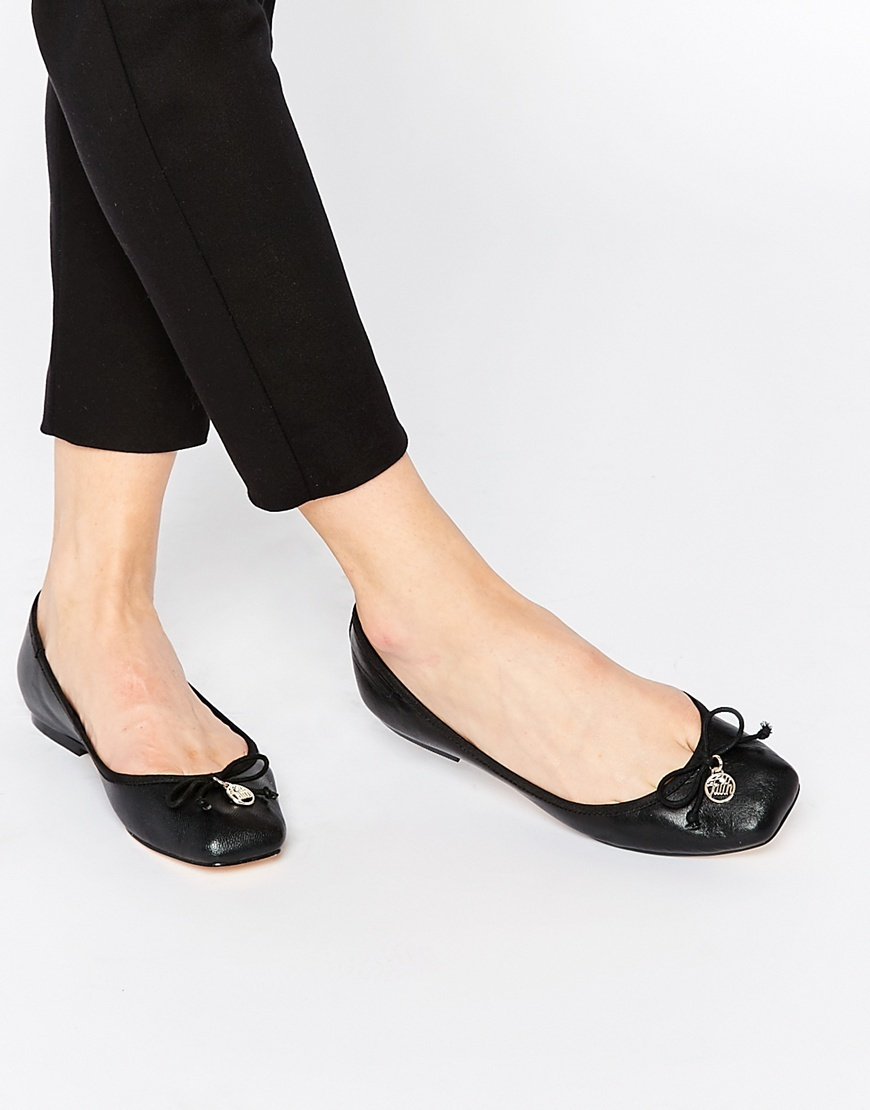 Austin Leather Square Toe Ballet Flats Black - predominant colour: black; occasions: casual, creative work; material: leather; heel height: flat; toe: square toe; style: ballerinas / pumps; finish: plain; pattern: plain; season: a/w 2015