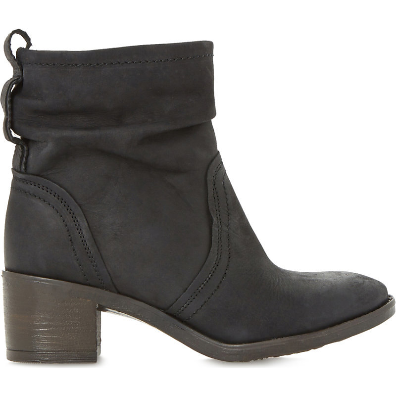 Polizzi Leather Ankle Boots, Women's, Eur 36 / 3 Uk Women, Black Leather - predominant colour: charcoal; occasions: casual, creative work; material: leather; heel height: mid; heel: block; toe: round toe; boot length: ankle boot; style: standard; finish: plain; pattern: plain; season: a/w 2015; wardrobe: basic