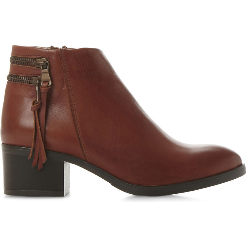 Pipinn Leather Ankle Boots, Women's, Eur 40 / 7 Uk Women, Tan/Brown - predominant colour: chocolate brown; occasions: casual, creative work; material: leather; heel height: mid; heel: block; toe: round toe; boot length: ankle boot; style: standard; finish: plain; pattern: plain; season: a/w 2015