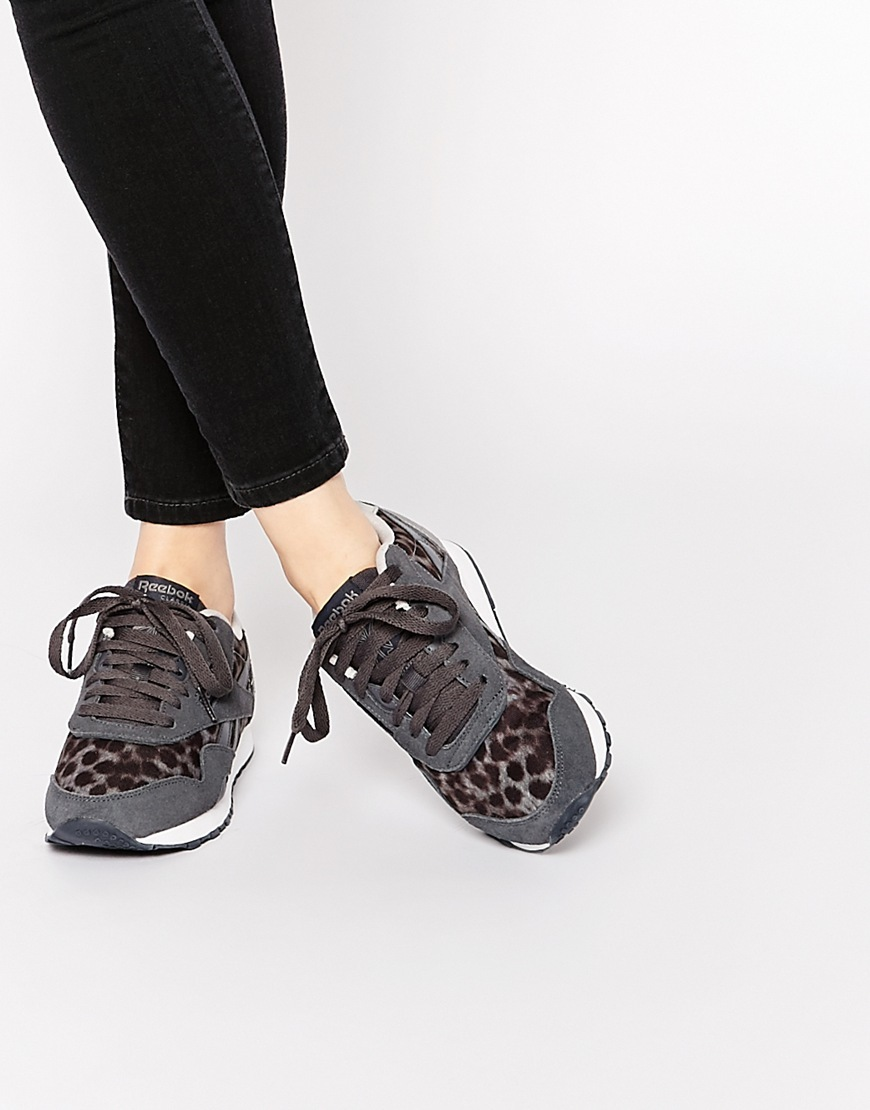 Classic Nylon Wild Grey Trainers Multi - predominant colour: charcoal; secondary colour: black; occasions: casual; material: fabric; heel height: flat; toe: round toe; style: trainers; finish: plain; pattern: patterned/print; season: a/w 2015; wardrobe: highlight