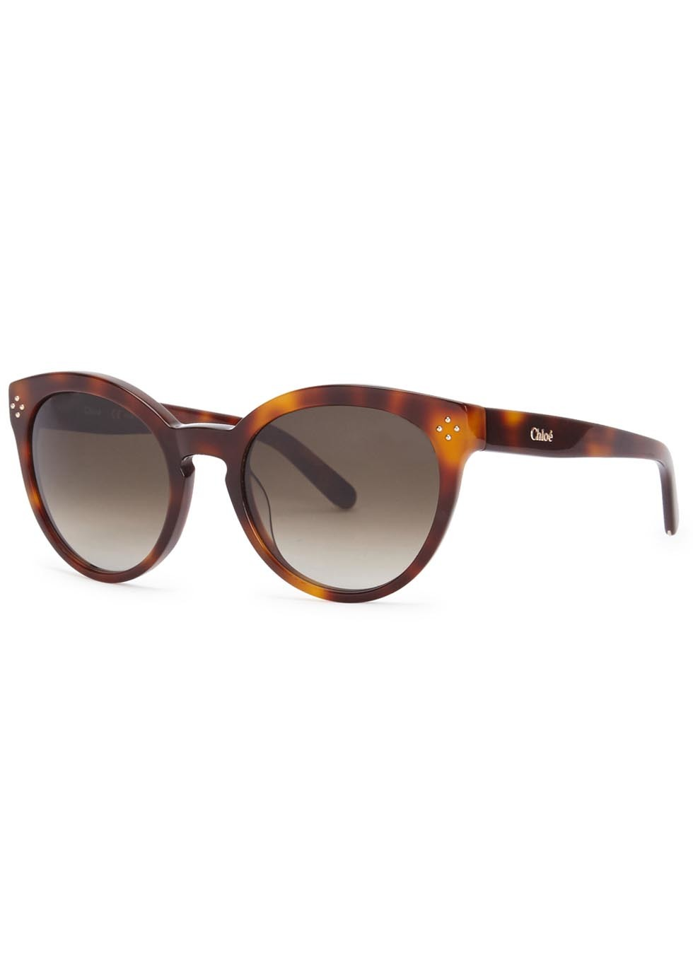 Boxwood Tortoiseshell Oval Frame Sunglasses - predominant colour: tan; occasions: casual, holiday; style: cateye; size: large; material: plastic/rubber; pattern: tortoiseshell; finish: plain; season: a/w 2015; wardrobe: highlight