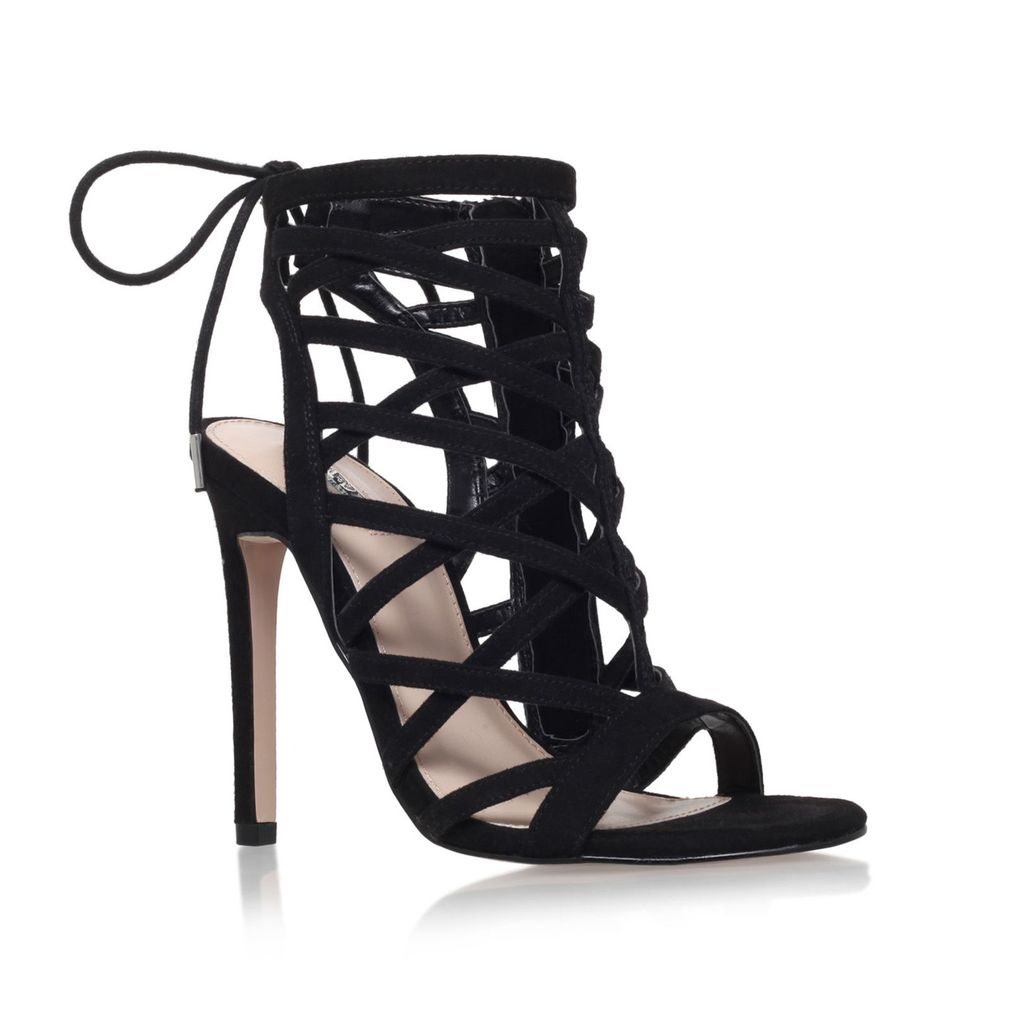 Gracie High Heel Sandals, Black - predominant colour: black; occasions: evening, occasion; material: leather; heel height: high; heel: stiletto; toe: open toe/peeptoe; style: strappy; finish: plain; pattern: plain; season: a/w 2015; wardrobe: event