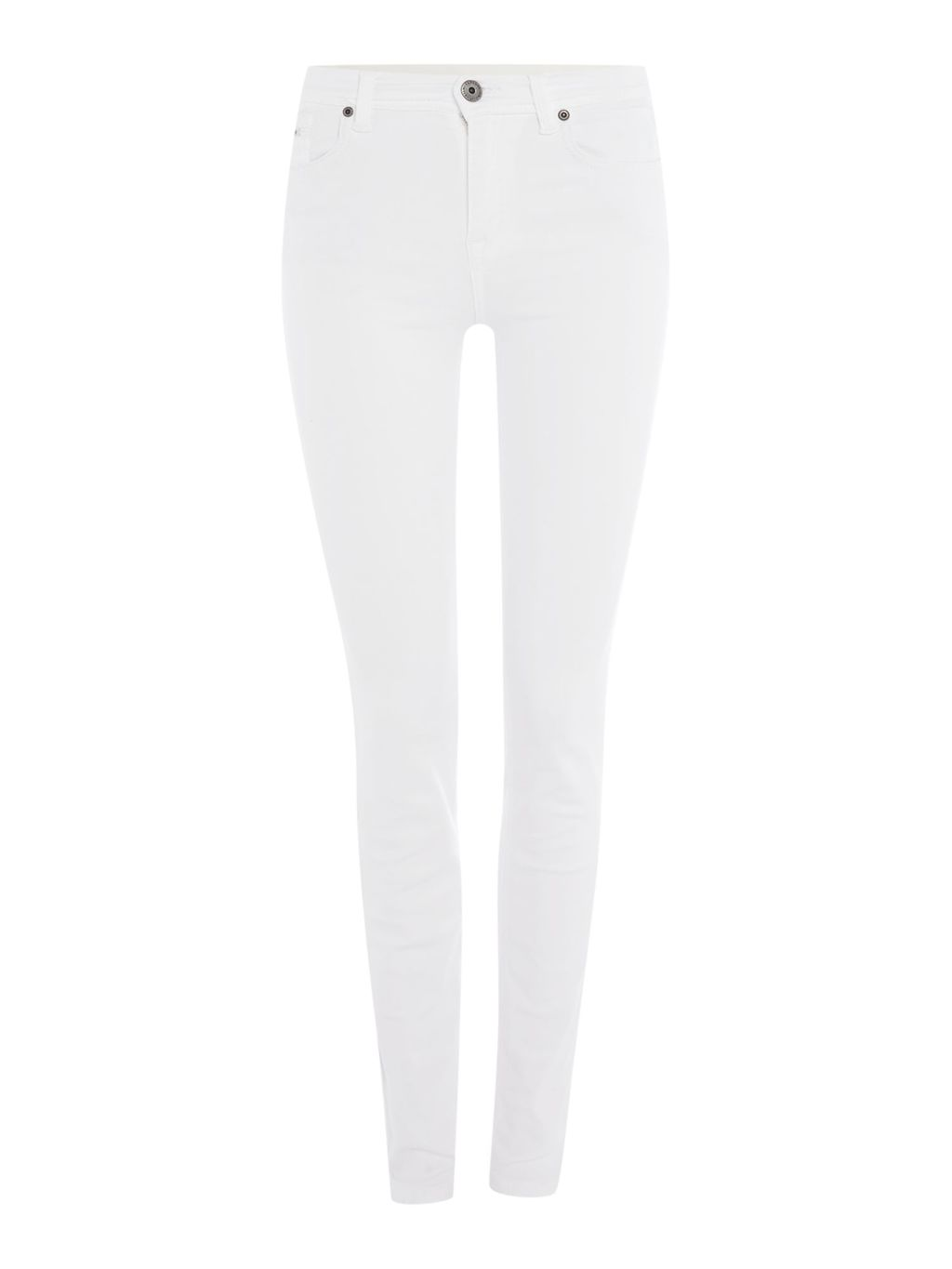 International Hairpin Skinny Jeans, White - style: skinny leg; length: standard; pattern: plain; pocket detail: traditional 5 pocket; waist: mid/regular rise; predominant colour: white; occasions: casual; fibres: cotton - stretch; texture group: denim; pattern type: fabric; season: a/w 2015; wardrobe: highlight