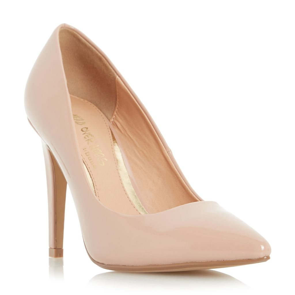 Addyson Square Heel Pointed Courts, Nude - predominant colour: nude; occasions: evening, occasion; material: faux leather; heel: stiletto; toe: pointed toe; style: courts; finish: plain; pattern: plain; heel height: very high; season: a/w 2015