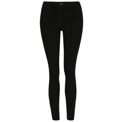 Black Wonderfit Skinny Jeans - style: skinny leg; length: standard; pattern: plain; waist: high rise; pocket detail: traditional 5 pocket; predominant colour: black; occasions: casual; fibres: cotton - stretch; texture group: denim; pattern type: fabric; season: a/w 2015; wardrobe: basic
