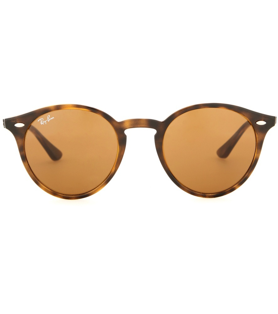 Rb2180 Round Sunglasses - predominant colour: chocolate brown; secondary colour: camel; occasions: casual, holiday; style: round; size: standard; material: plastic/rubber; pattern: tortoiseshell; finish: plain; season: a/w 2015