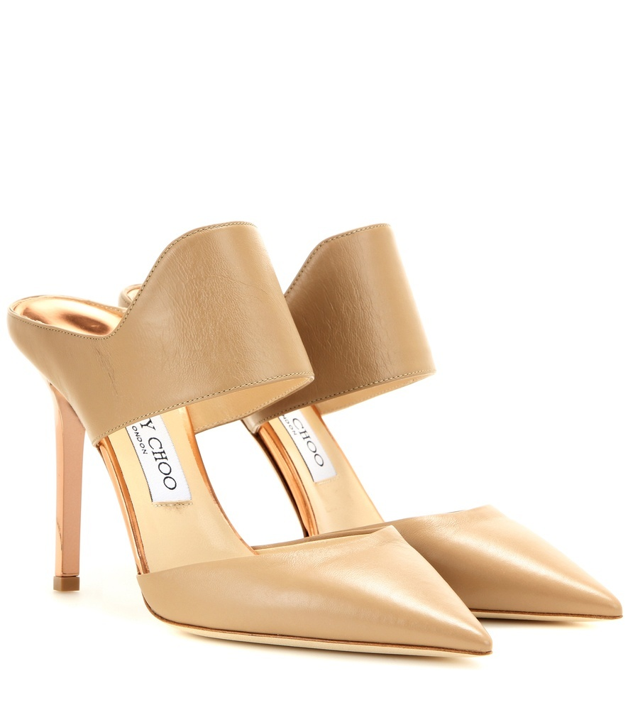 Duty 100 Leather Sandals - predominant colour: camel; material: leather; heel: stiletto; toe: pointed toe; style: courts; finish: plain; pattern: plain; heel height: very high; occasions: creative work; season: a/w 2015; wardrobe: highlight