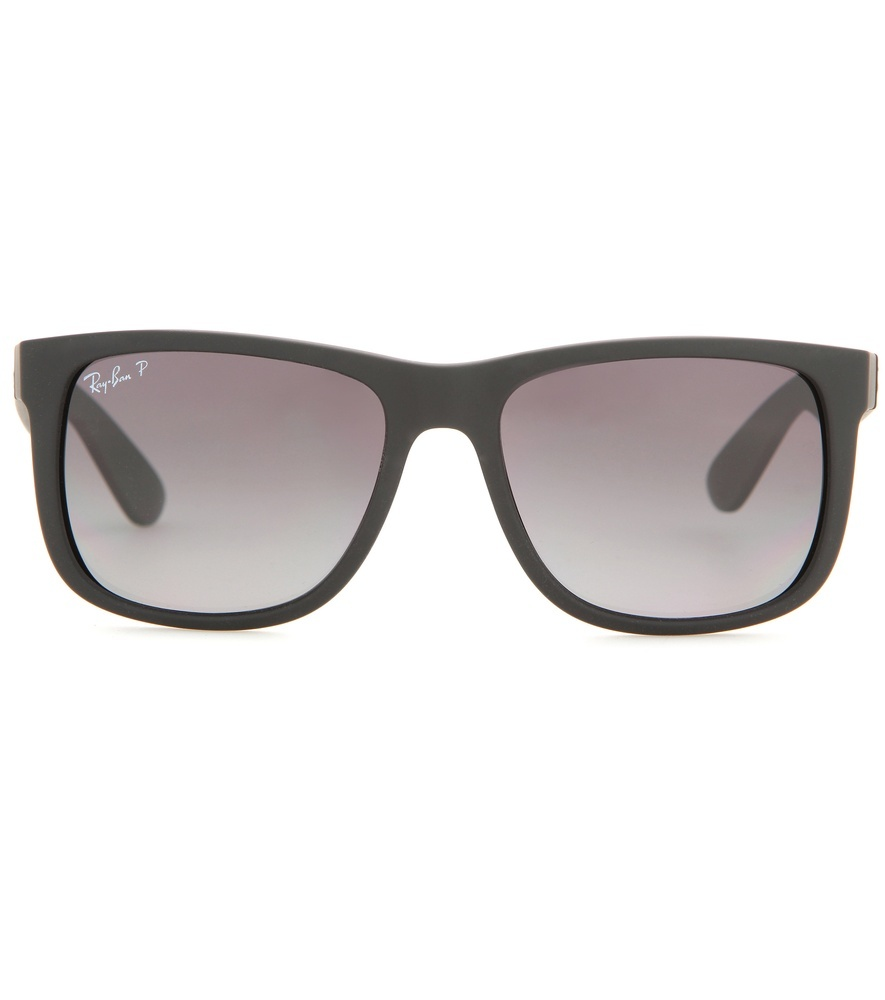 Rb4165 Justin Classic Sunglasses - predominant colour: black; occasions: casual, holiday; style: square; size: standard; material: plastic/rubber; pattern: plain; finish: plain; season: a/w 2015; wardrobe: basic