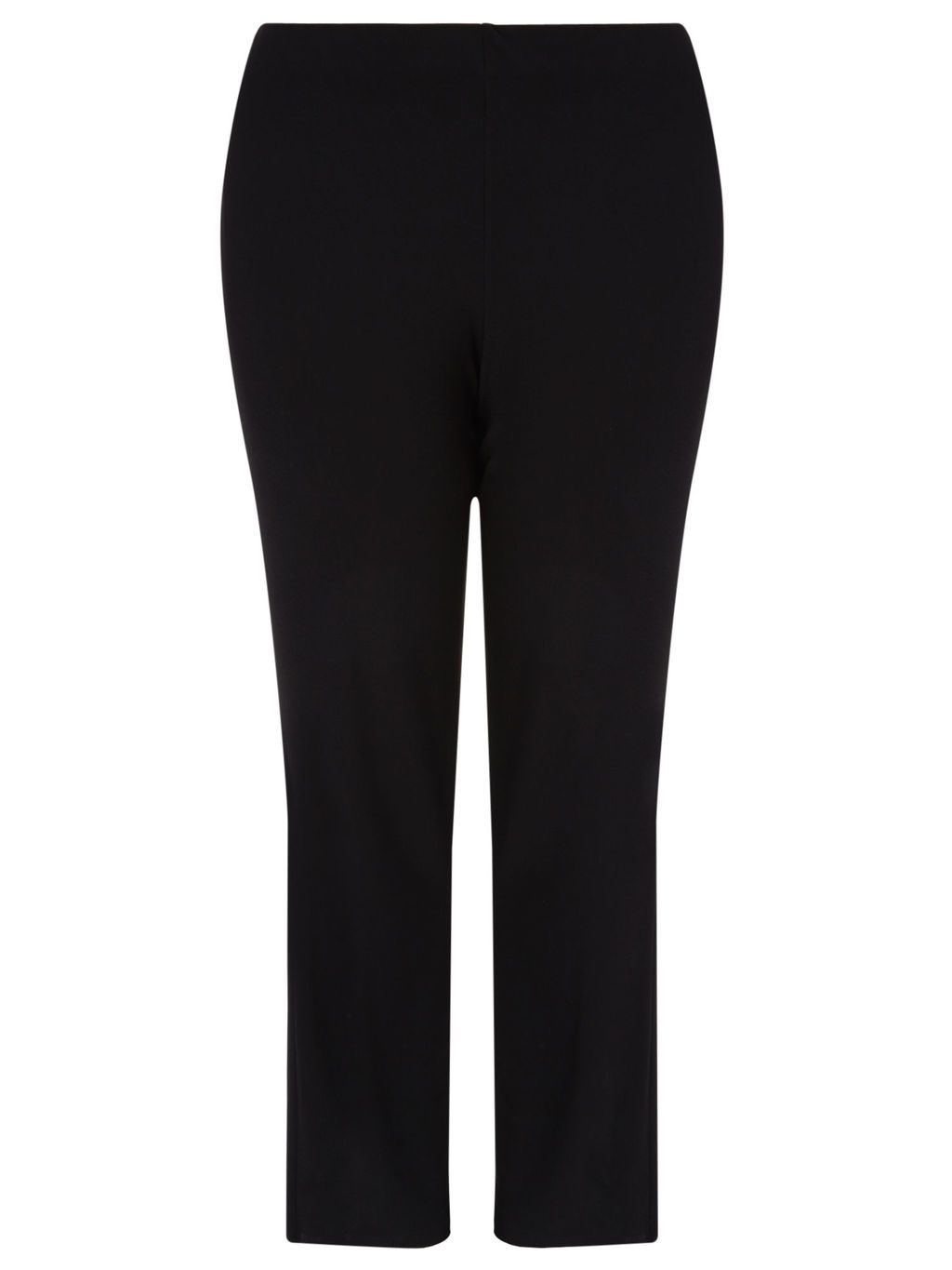 Jersey Trousers, Black - length: standard; pattern: plain; waist: mid/regular rise; predominant colour: black; occasions: work; fibres: polyester/polyamide - stretch; fit: straight leg; pattern type: fabric; texture group: jersey - stretchy/drapey; style: standard; season: a/w 2015; wardrobe: basic