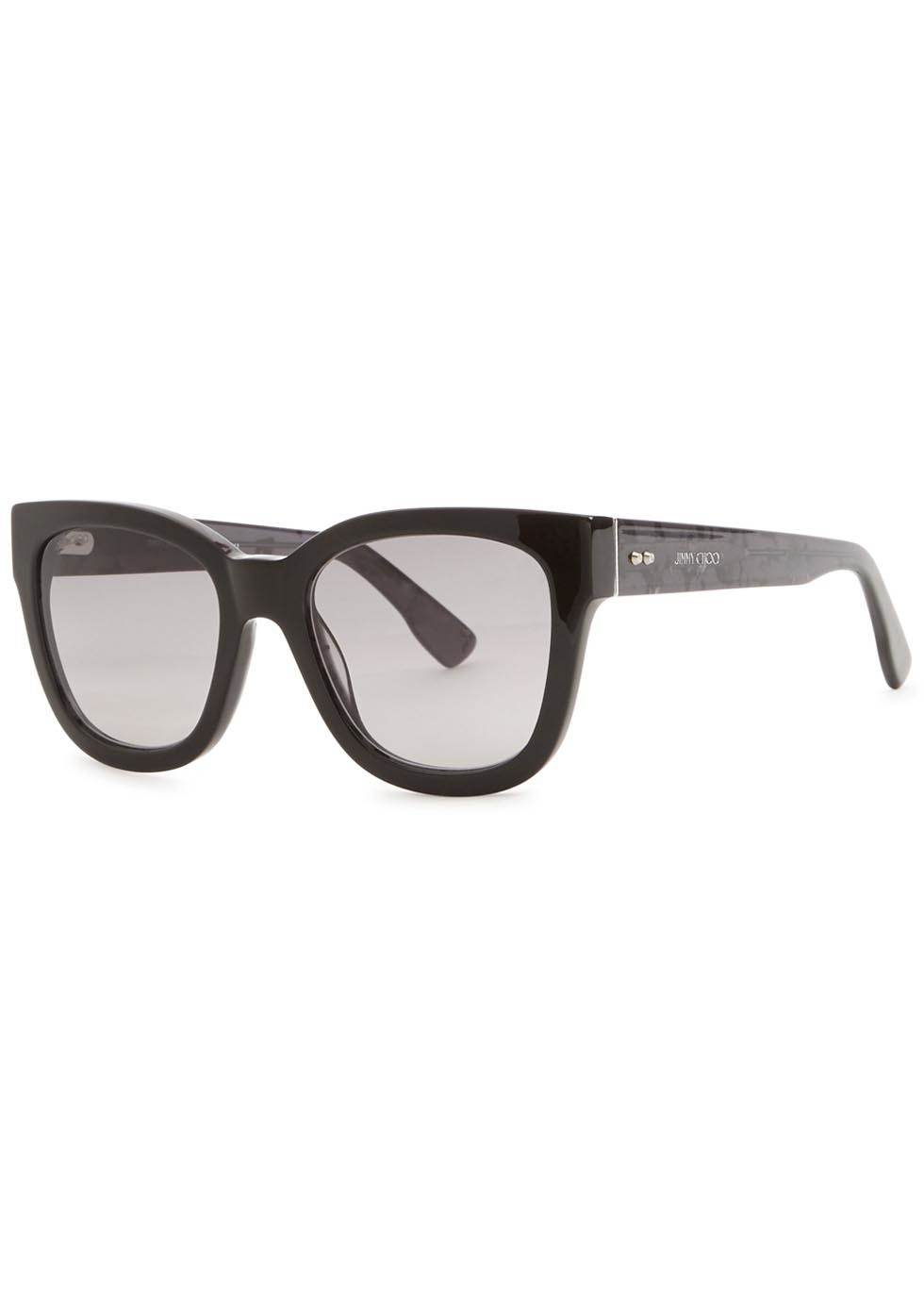 Otti Black Wayfarer Style Sunglasses - predominant colour: black; occasions: casual, holiday; style: d frame; size: standard; material: plastic/rubber; pattern: plain; finish: plain; season: a/w 2015; wardrobe: basic