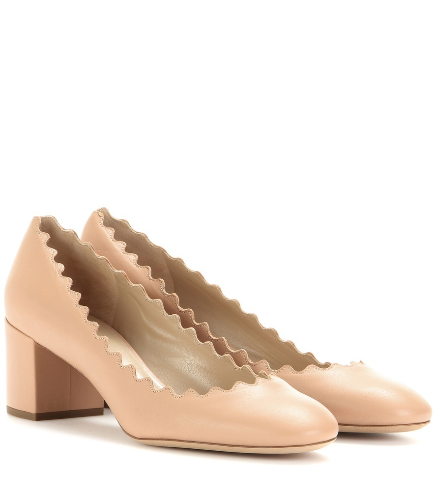 Lauren Leather Pumps - predominant colour: nude; occasions: evening, creative work; material: leather; heel height: mid; heel: block; toe: round toe; style: courts; finish: plain; pattern: plain; season: a/w 2015; wardrobe: investment