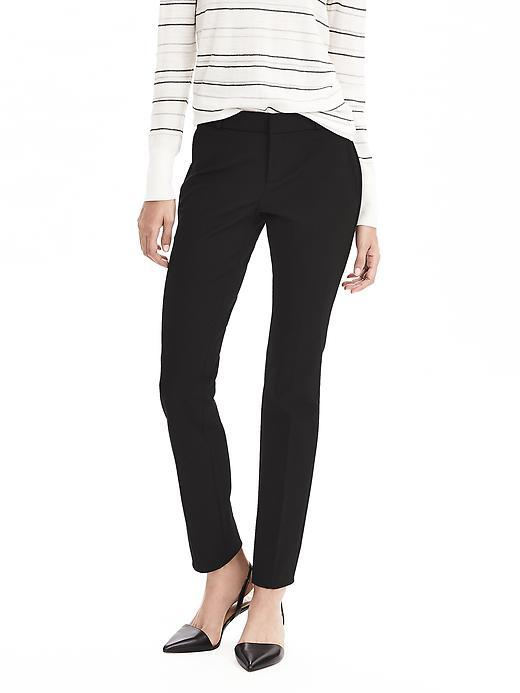 Ryan Fit Black Slim Straight Pant Black - length: standard; pattern: plain; waist: mid/regular rise; predominant colour: black; occasions: work; fibres: cotton - mix; fit: slim leg; pattern type: fabric; texture group: woven light midweight; style: standard; season: a/w 2015; wardrobe: basic