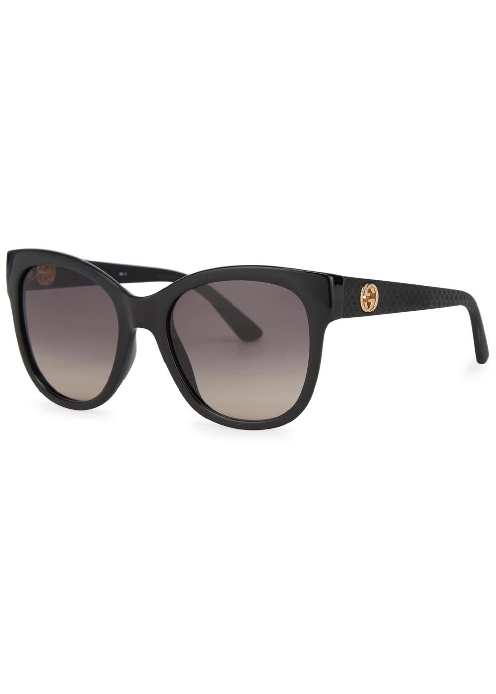 Black Cat Eye Sunglasses - predominant colour: black; occasions: casual, holiday; style: cateye; size: large; material: plastic/rubber; pattern: plain; finish: plain; season: a/w 2015