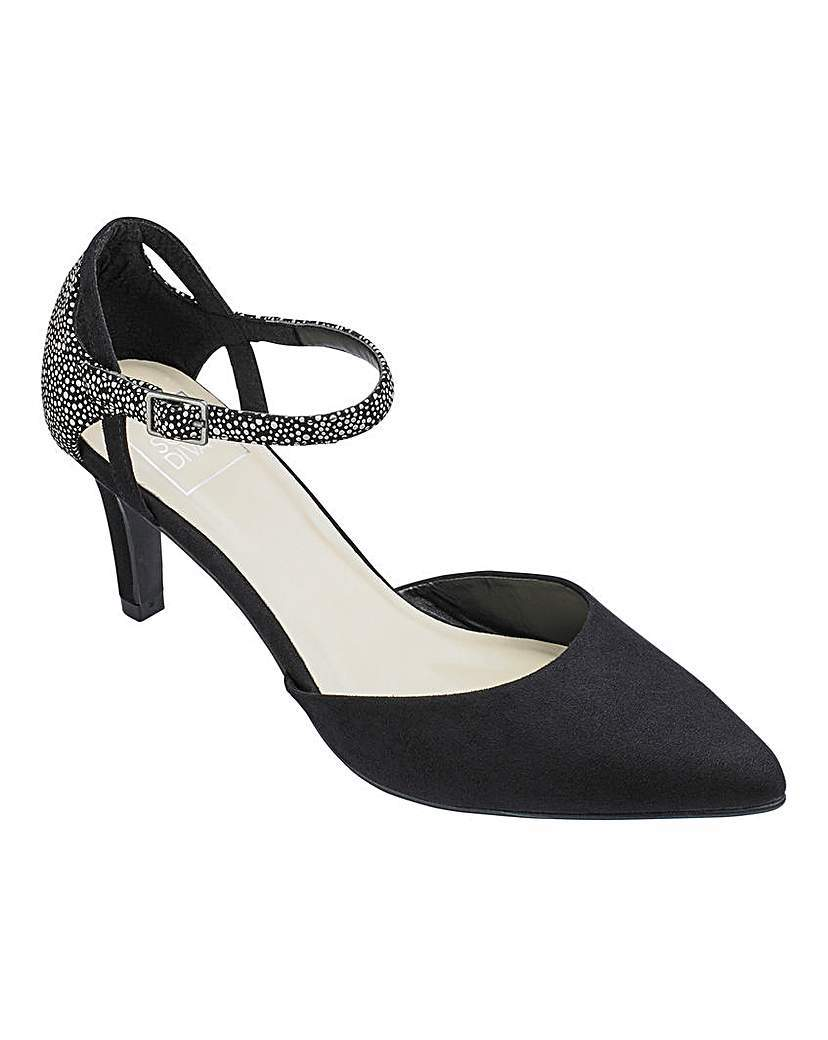 Sole Diva Court Shoes Eee Fit - predominant colour: black; occasions: evening, work, occasion; heel height: high; ankle detail: ankle strap; heel: stiletto; toe: pointed toe; style: courts; finish: plain; pattern: plain; material: faux suede; season: a/w 2015; wardrobe: investment