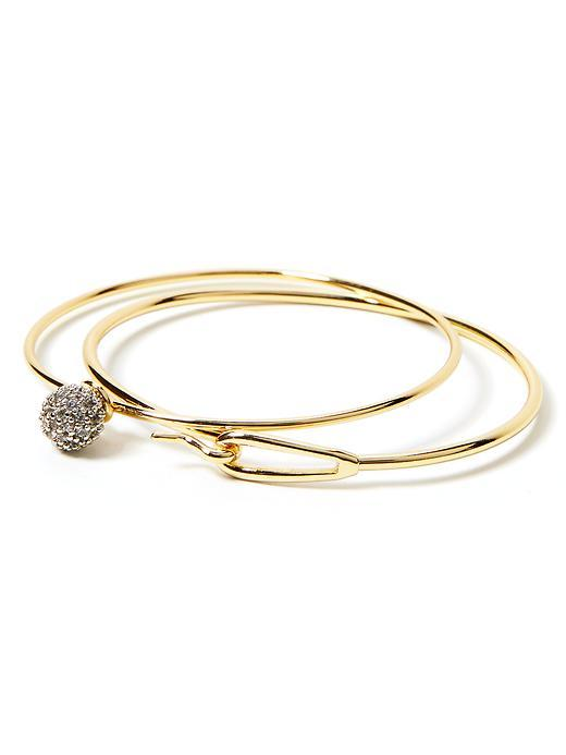 Sparkle Bangle Gold - predominant colour: gold; occasions: evening; size: standard; material: chain/metal; finish: metallic; embellishment: crystals/glass; secondary colour: clear; season: a/w 2015; style: multi bangle; wardrobe: event
