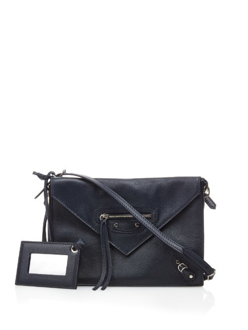 Papier Classic Zip Around Leather Cross Body Bag - predominant colour: navy; type of pattern: standard; style: shoulder; length: across body/long; size: small; material: leather; pattern: plain; finish: plain; occasions: creative work; season: a/w 2015; wardrobe: investment