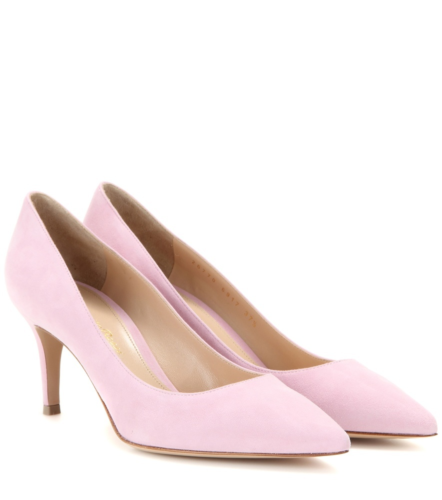 Gianvito 70 Suede Pumps - predominant colour: nude; occasions: evening, occasion; material: suede; heel height: high; heel: stiletto; toe: pointed toe; style: courts; finish: plain; pattern: plain; season: a/w 2015; wardrobe: event