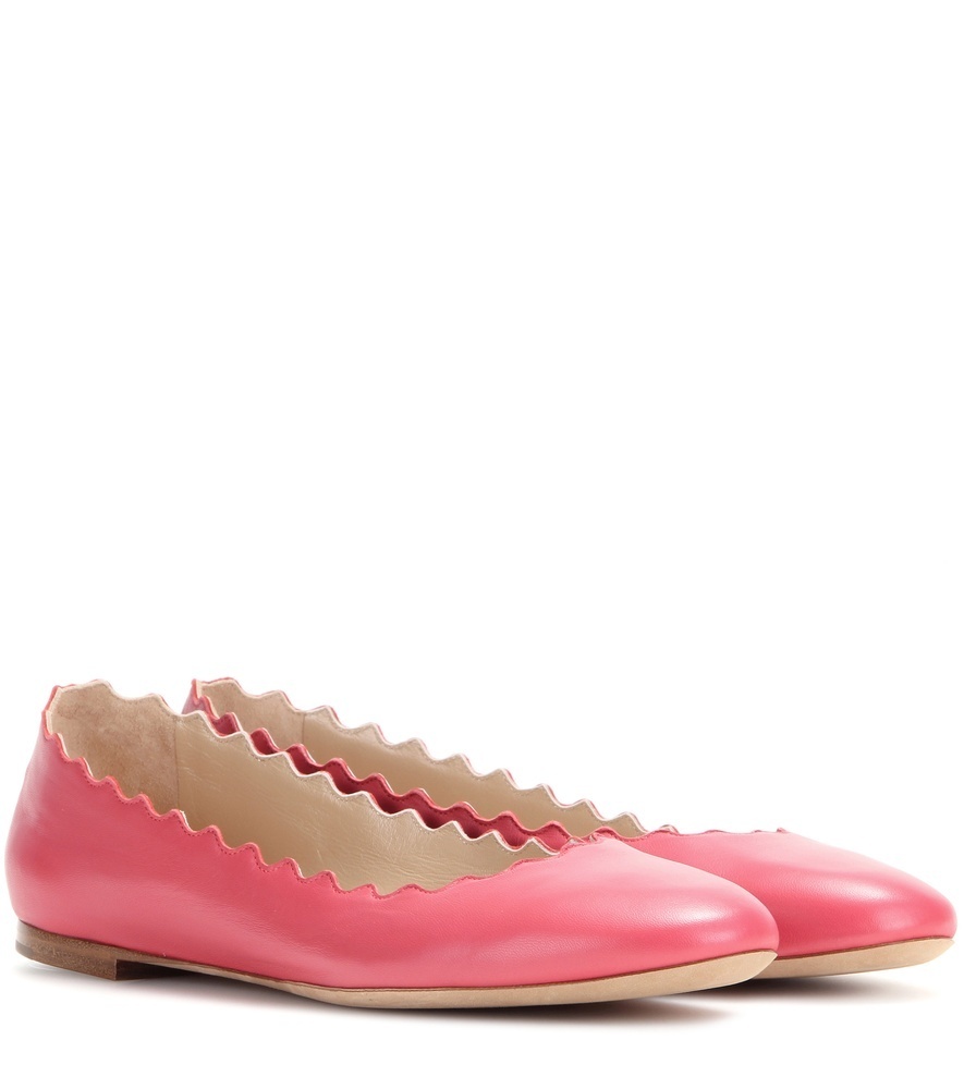 Lauren Leather Ballerinas - predominant colour: hot pink; occasions: casual, creative work; material: leather; heel height: flat; toe: round toe; style: ballerinas / pumps; finish: plain; pattern: plain; season: a/w 2015; wardrobe: highlight