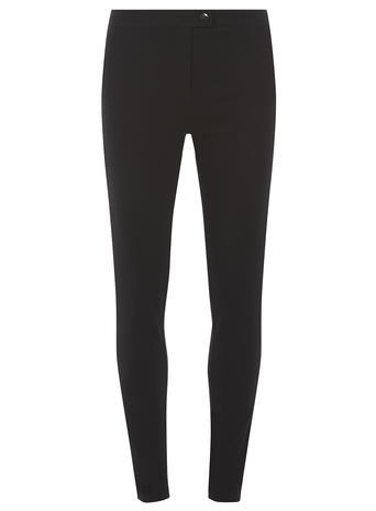 Womens **Tall Black Skinny Trousers Black - length: standard; pattern: plain; waist: mid/regular rise; predominant colour: black; occasions: casual, creative work; fit: skinny/tight leg; pattern type: fabric; texture group: woven light midweight; style: standard; fibres: viscose/rayon - mix; season: a/w 2015; wardrobe: basic