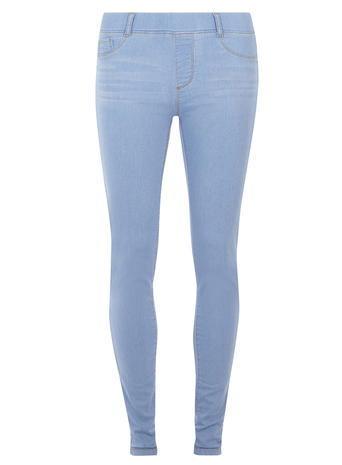Womens Ice Blue 'eden' Ultra Soft Jeggings Blue - length: standard; pattern: plain; style: jeggings; waist: mid/regular rise; predominant colour: denim; occasions: casual; fibres: cotton - stretch; texture group: denim; pattern type: fabric; season: a/w 2015