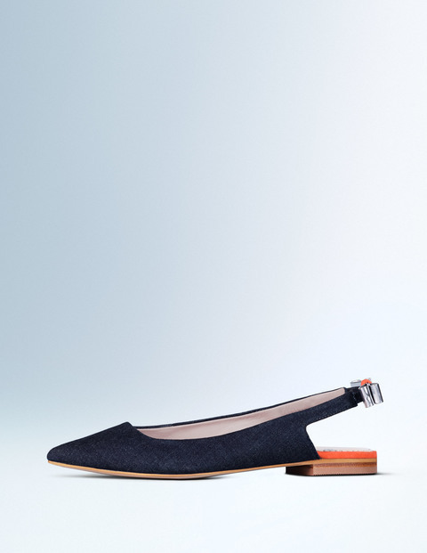 Daniella Flat Point Indigo Chambray Women, Indigo Chambray - predominant colour: navy; occasions: casual, creative work; material: suede; heel height: flat; toe: pointed toe; style: ballerinas / pumps; finish: plain; pattern: plain; season: a/w 2015; wardrobe: basic
