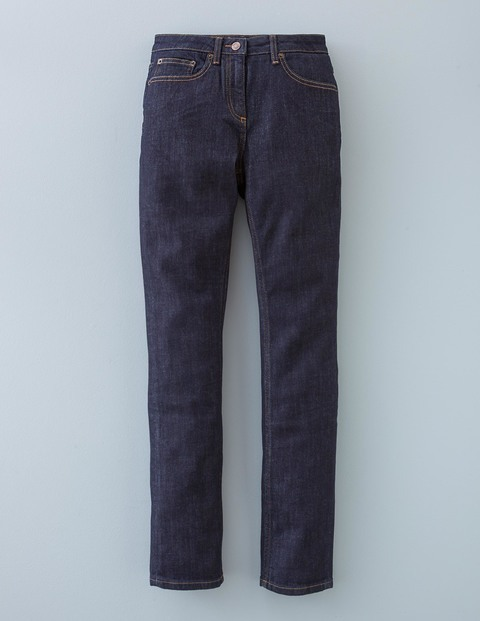 Straightleg Jean Indigo Women, Indigo - style: straight leg; length: standard; pattern: plain; pocket detail: traditional 5 pocket; waist: mid/regular rise; predominant colour: navy; occasions: casual; fibres: cotton - stretch; texture group: denim; pattern type: fabric; season: a/w 2015; wardrobe: basic