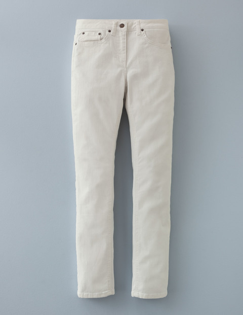 Straightleg Jean Ecru Women, Ecru - style: straight leg; length: standard; pattern: plain; pocket detail: traditional 5 pocket; waist: mid/regular rise; predominant colour: ivory/cream; occasions: casual; fibres: cotton - stretch; texture group: denim; pattern type: fabric; season: a/w 2015; wardrobe: highlight