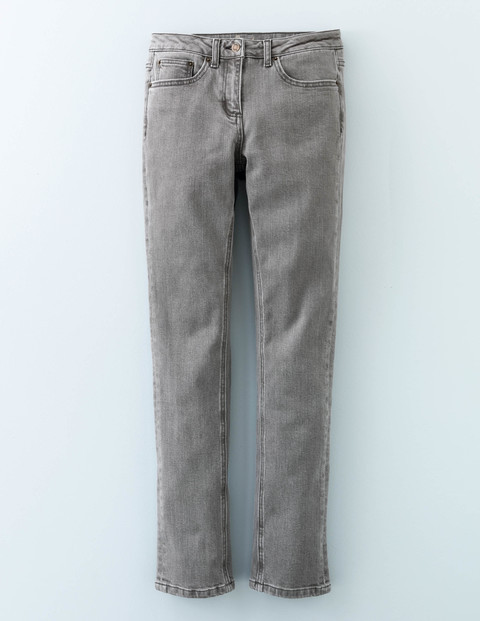 Straightleg Jean Grey Women, Grey - style: straight leg; length: standard; pattern: plain; pocket detail: traditional 5 pocket; waist: mid/regular rise; predominant colour: mid grey; occasions: casual; fibres: cotton - stretch; texture group: denim; pattern type: fabric; season: a/w 2015; wardrobe: highlight