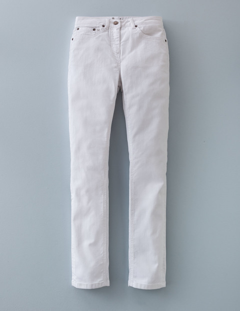 Straightleg Jean White Women, White - style: straight leg; length: standard; pattern: plain; pocket detail: traditional 5 pocket; waist: mid/regular rise; predominant colour: white; occasions: casual; fibres: cotton - stretch; texture group: denim; pattern type: fabric; season: a/w 2015