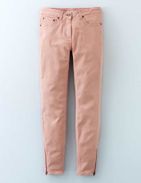 Zip Ankle Skimmer Rose Quartz Women, Rose Quartz - style: skinny leg; length: standard; pattern: plain; pocket detail: traditional 5 pocket; waist: mid/regular rise; predominant colour: blush; occasions: casual; fibres: cotton - stretch; texture group: denim; pattern type: fabric; embellishment: zips; season: a/w 2015; wardrobe: highlight; embellishment location: hem