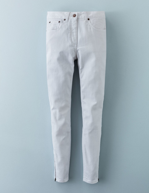 Zip Ankle Skimmer White Women, White - style: skinny leg; length: standard; pattern: plain; pocket detail: traditional 5 pocket; waist: mid/regular rise; predominant colour: white; occasions: casual; fibres: cotton - stretch; texture group: denim; pattern type: fabric; season: a/w 2015; wardrobe: highlight