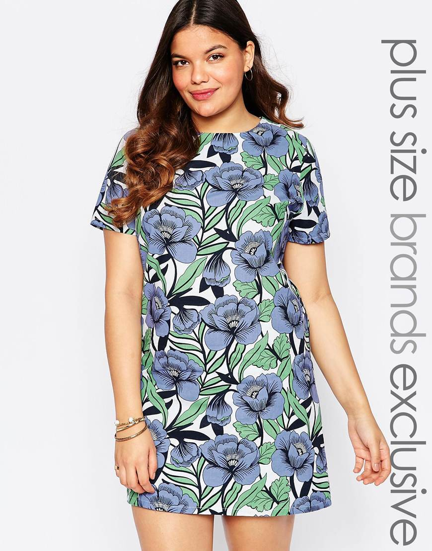 Printed Shift Dress Multi - style: shift; length: mid thigh; neckline: cowl/draped neck; predominant colour: pale blue; secondary colour: pistachio; occasions: evening; fit: soft a-line; fibres: polyester/polyamide - 100%; sleeve length: short sleeve; sleeve style: standard; pattern type: fabric; pattern size: standard; pattern: florals; texture group: woven light midweight; season: a/w 2015; wardrobe: event