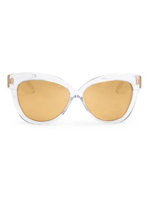 Gold Tinted Cat Eye Sunglasses - predominant colour: gold; occasions: casual, holiday; style: cateye; size: standard; material: plastic/rubber; pattern: plain; finish: plain; season: a/w 2015; wardrobe: basic