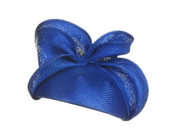 Maggy - predominant colour: royal blue; occasions: occasion; type of pattern: standard; style: fascinator; size: standard; material: sinamay; pattern: plain; season: a/w 2015; wardrobe: event
