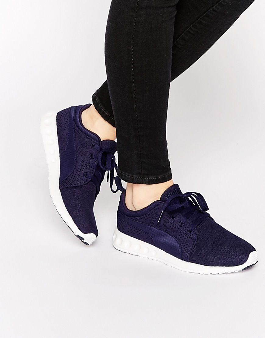 Carson Runner Camo Mesh Navy Trainers Navy - predominant colour: navy; occasions: casual; material: fabric; heel height: flat; toe: round toe; style: trainers; finish: plain; pattern: plain; shoe detail: platform with tread; season: a/w 2015; wardrobe: highlight