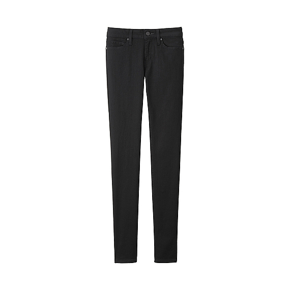 Women Ultra Stretch Jeans Black - style: skinny leg; length: standard; pattern: plain; waist: mid/regular rise; predominant colour: black; occasions: casual, creative work; fibres: cotton - stretch; texture group: denim; pattern type: fabric; season: a/w 2015; wardrobe: basic